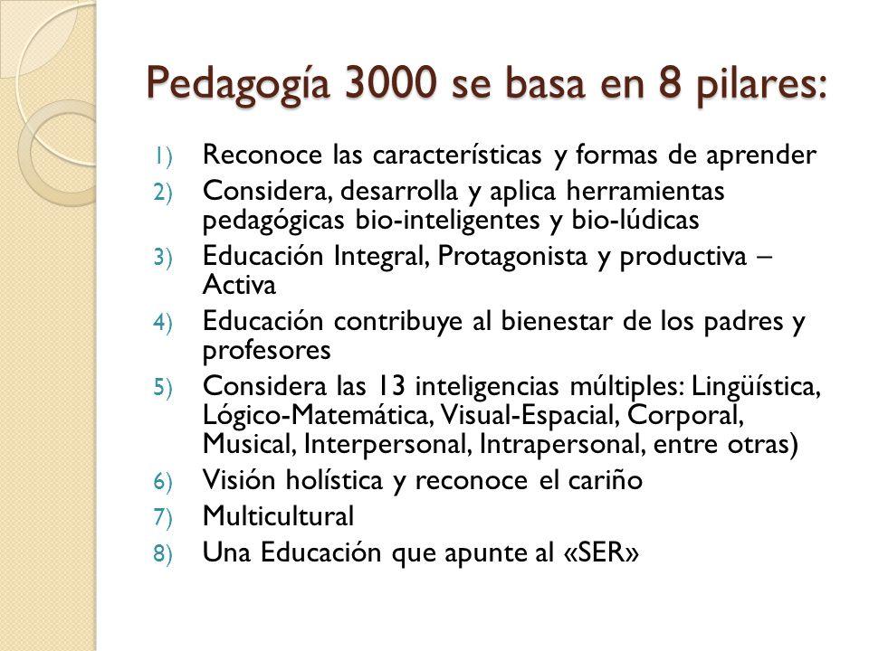Pedagogía 3000 se basa en 8 pilares: