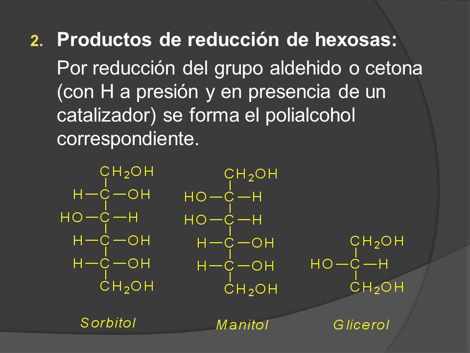 Productos de reducción de hexosas: