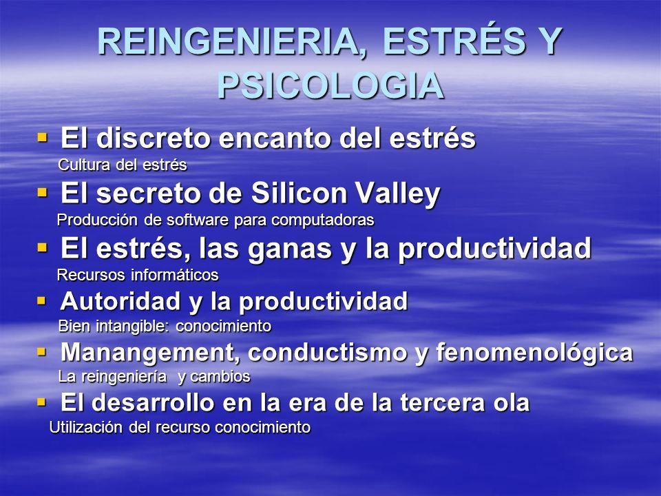 REINGENIERIA, ESTRÉS Y PSICOLOGIA