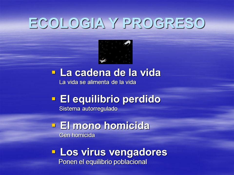 ECOLOGIA Y PROGRESO La cadena de la vida El equilibrio perdido