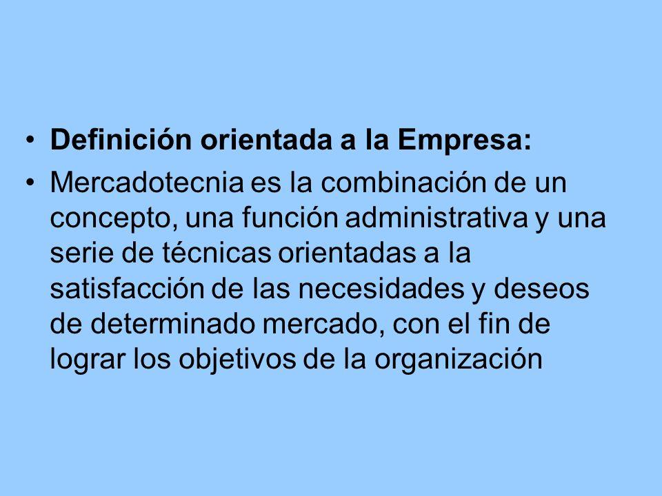 Definición orientada a la Empresa: