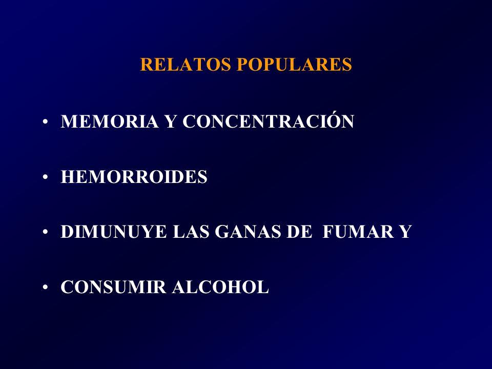 RELATOS POPULARES MEMORIA Y CONCENTRACIÓN. HEMORROIDES.