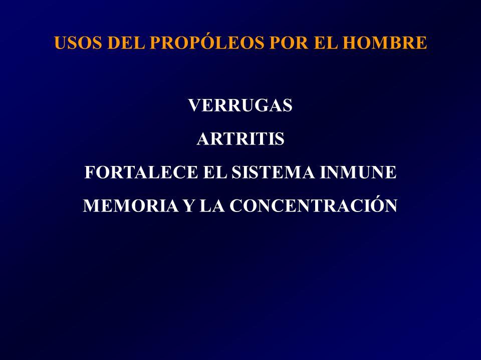 USOS DEL PROPÓLEOS POR EL HOMBRE VERRUGAS ARTRITIS