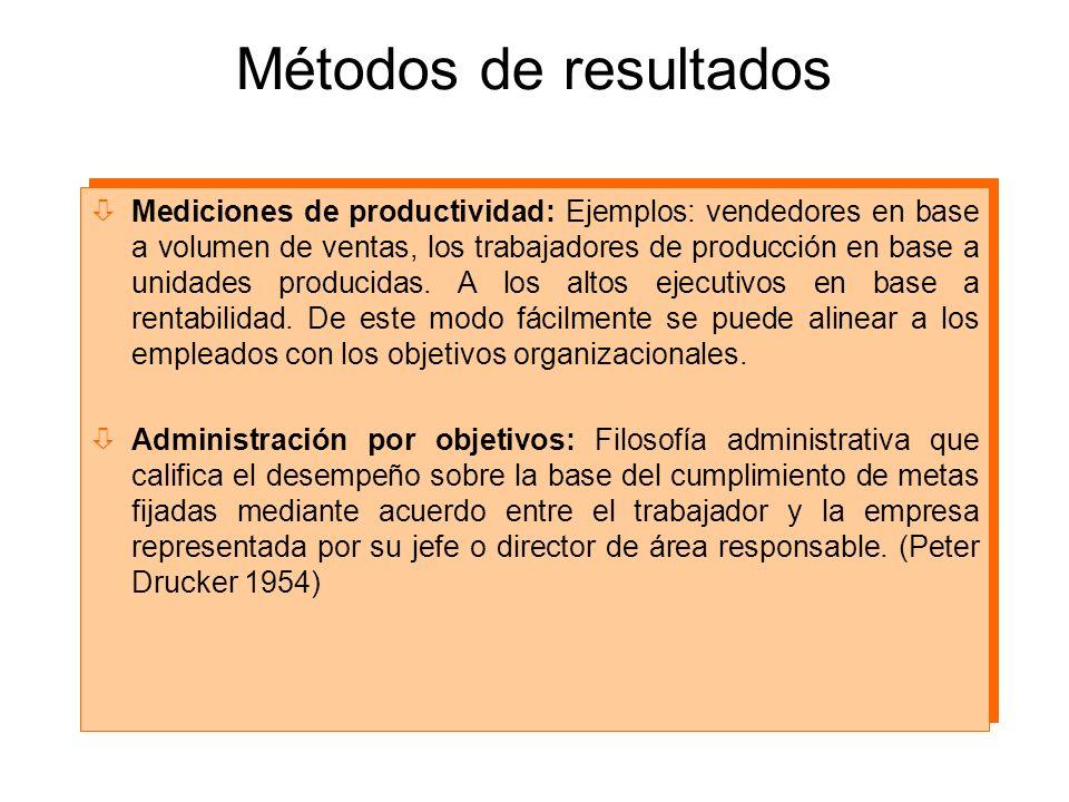Métodos de resultados