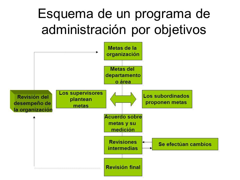Esquema de un programa de administración por objetivos
