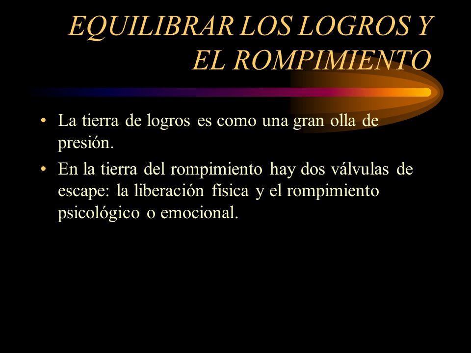 EQUILIBRAR LOS LOGROS Y EL ROMPIMIENTO