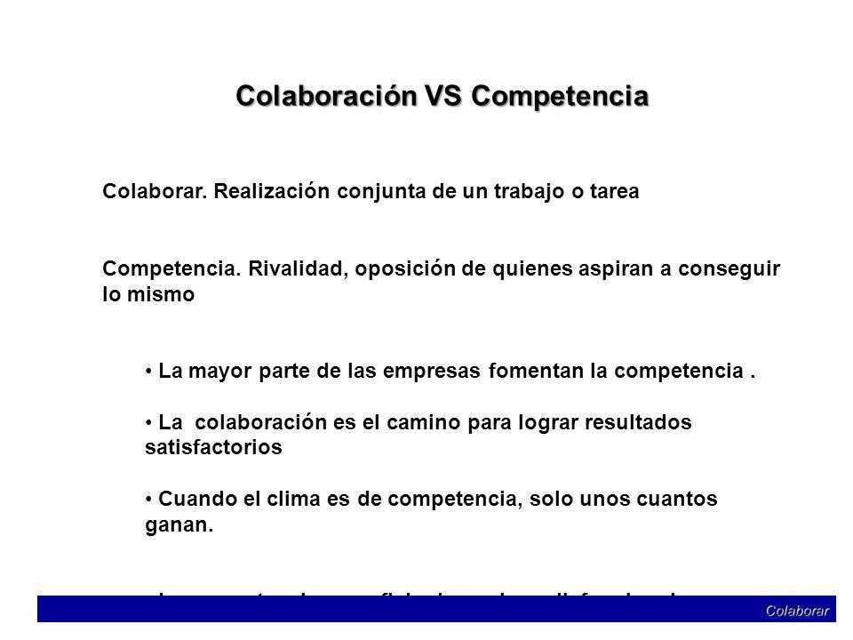 Colaboración VS Competencia