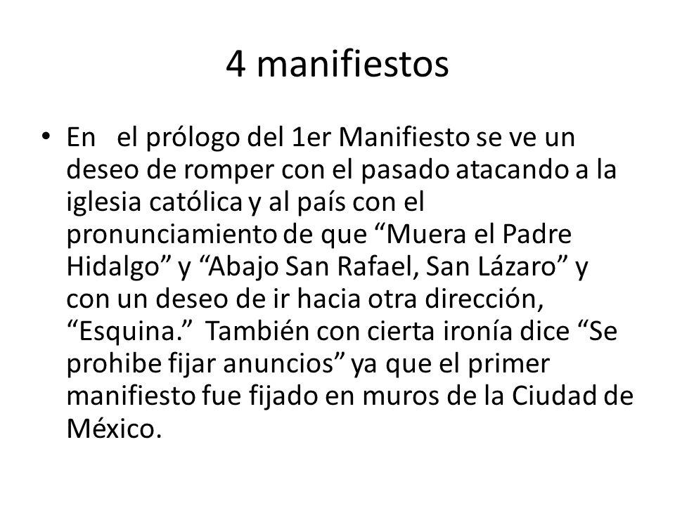 4 manifiestos