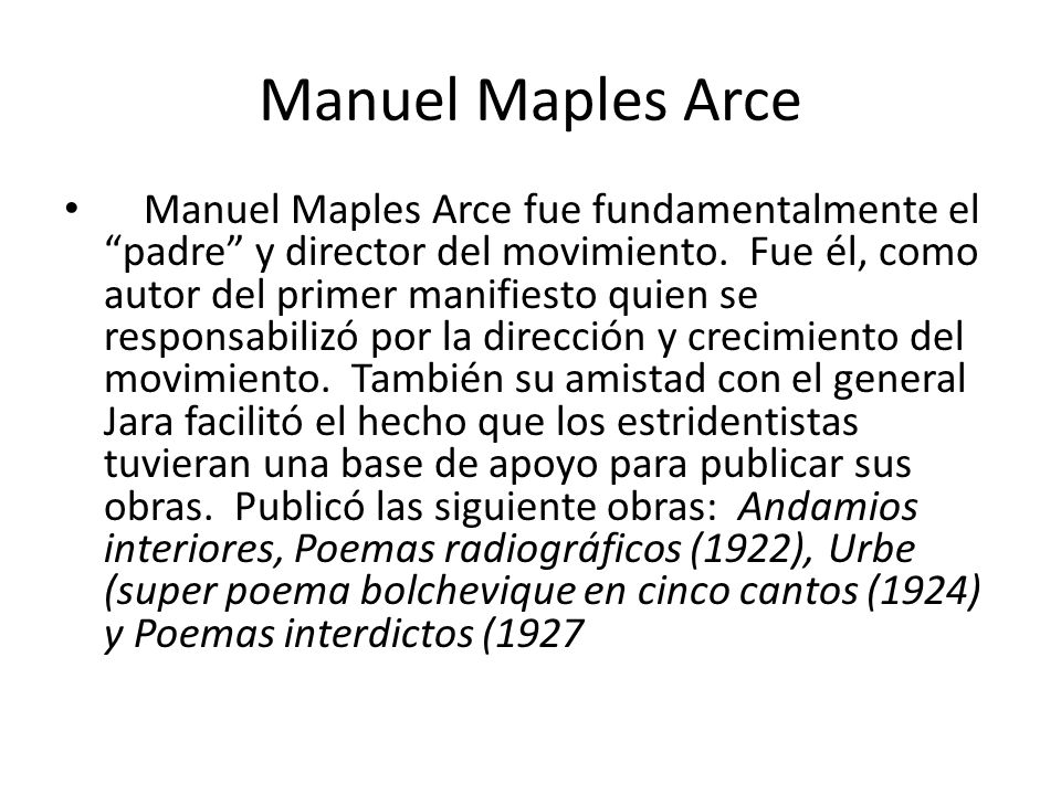 Manuel Maples Arce