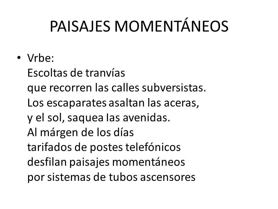 PAISAJES MOMENTÁNEOS