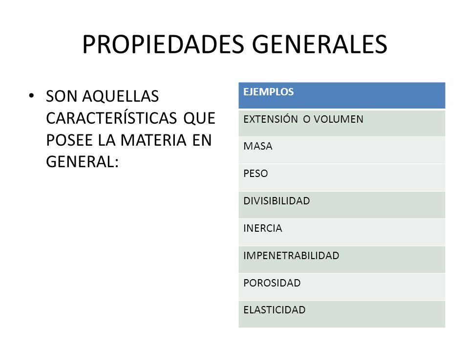 PROPIEDADES GENERALES
