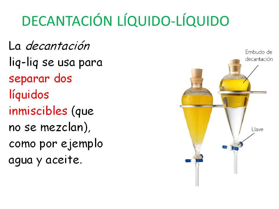 DECANTACIÓN LÍQUIDO-LÍQUIDO