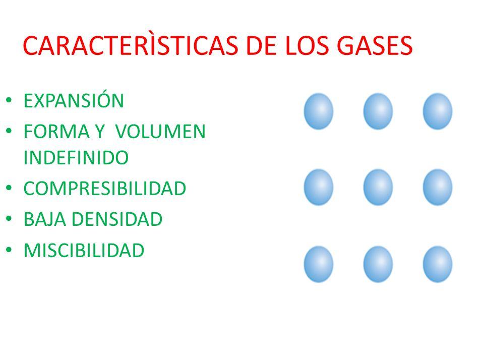 CARACTERÌSTICAS DE LOS GASES