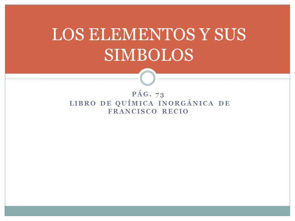 LOS ELEMENTOS Y SUS SIMBOLOS