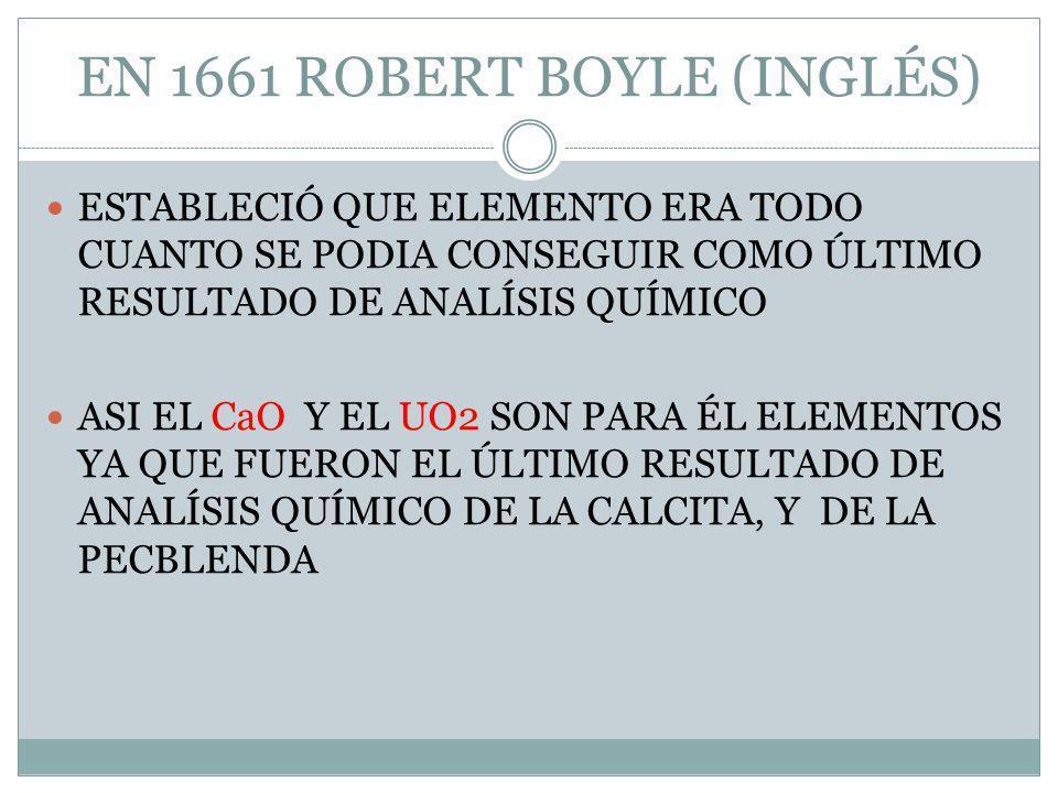 EN 1661 ROBERT BOYLE (INGLÉS)