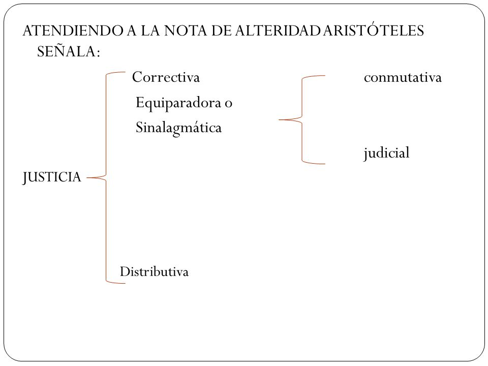 ATENDIENDO A LA NOTA DE ALTERIDAD ARISTÓTELES SEÑALA: