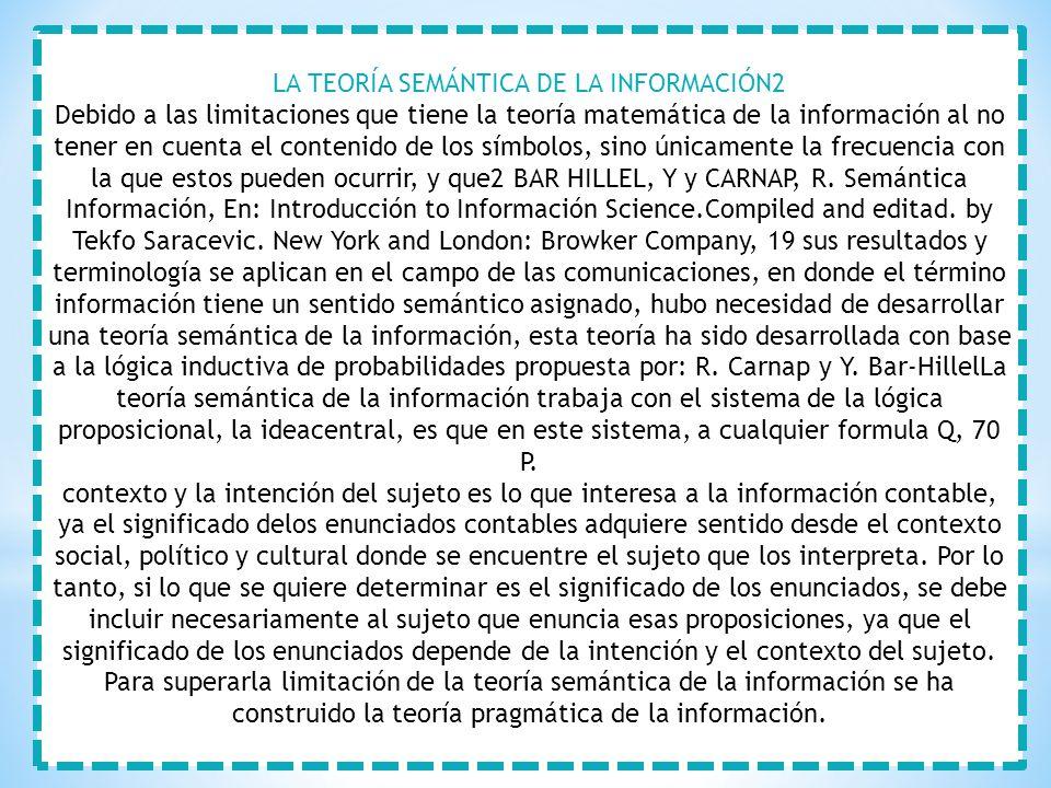 LA TEORÍA SEMÁNTICA DE LA INFORMACIÓN2
