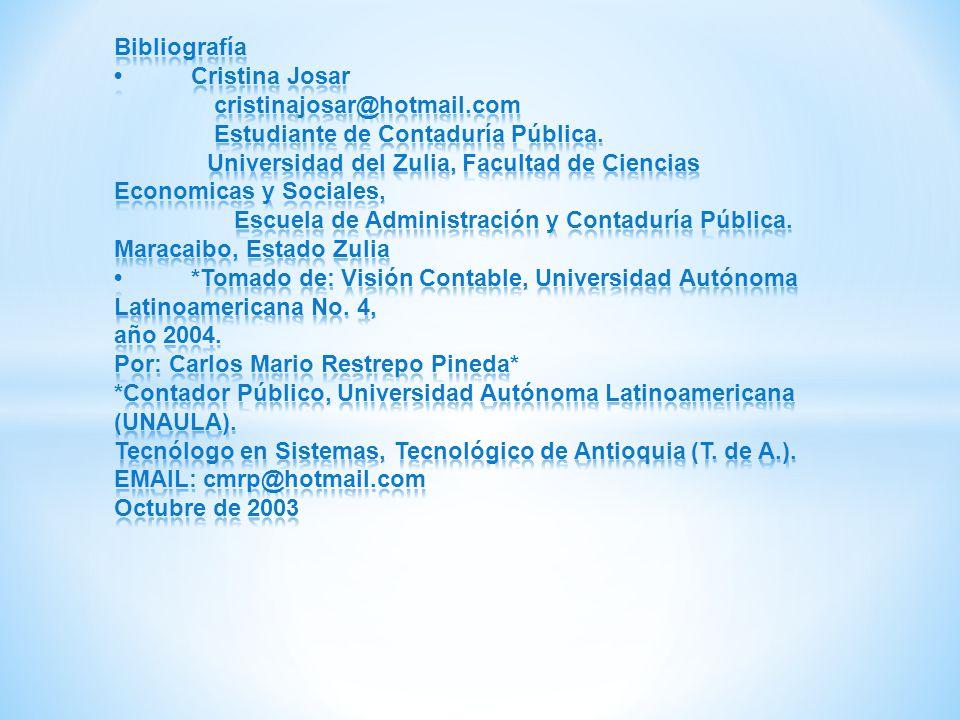 Bibliografía •. Cristina Josar cristinajosar@hotmail