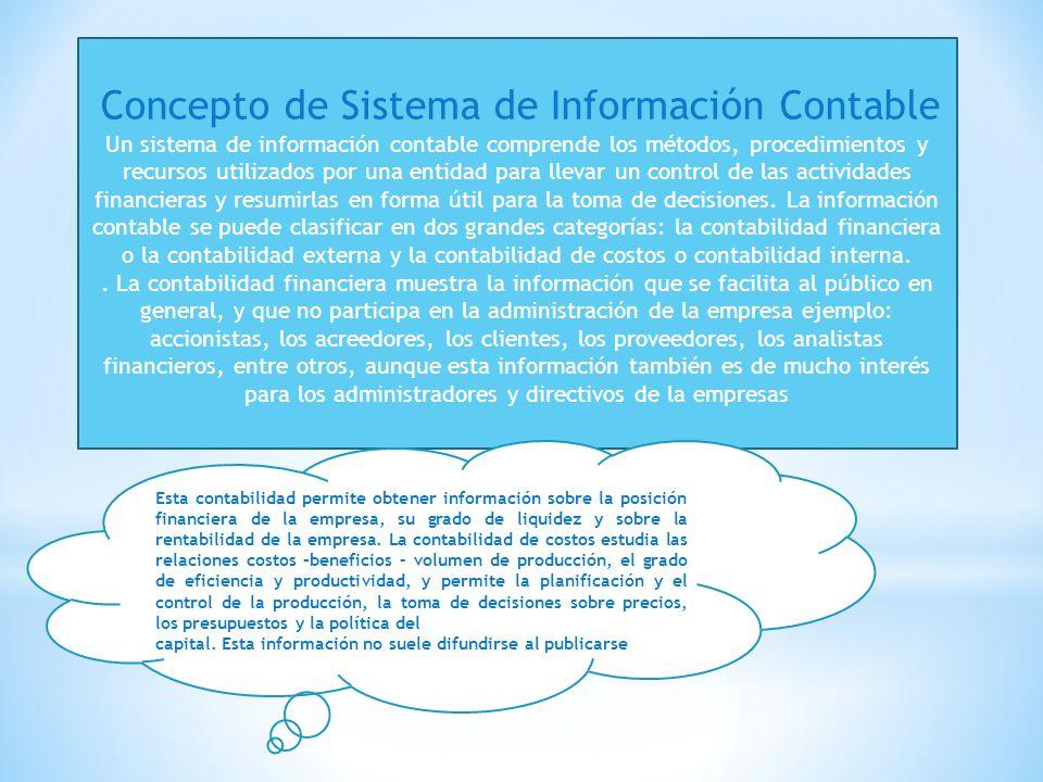 Concepto de Sistema de Información Contable
