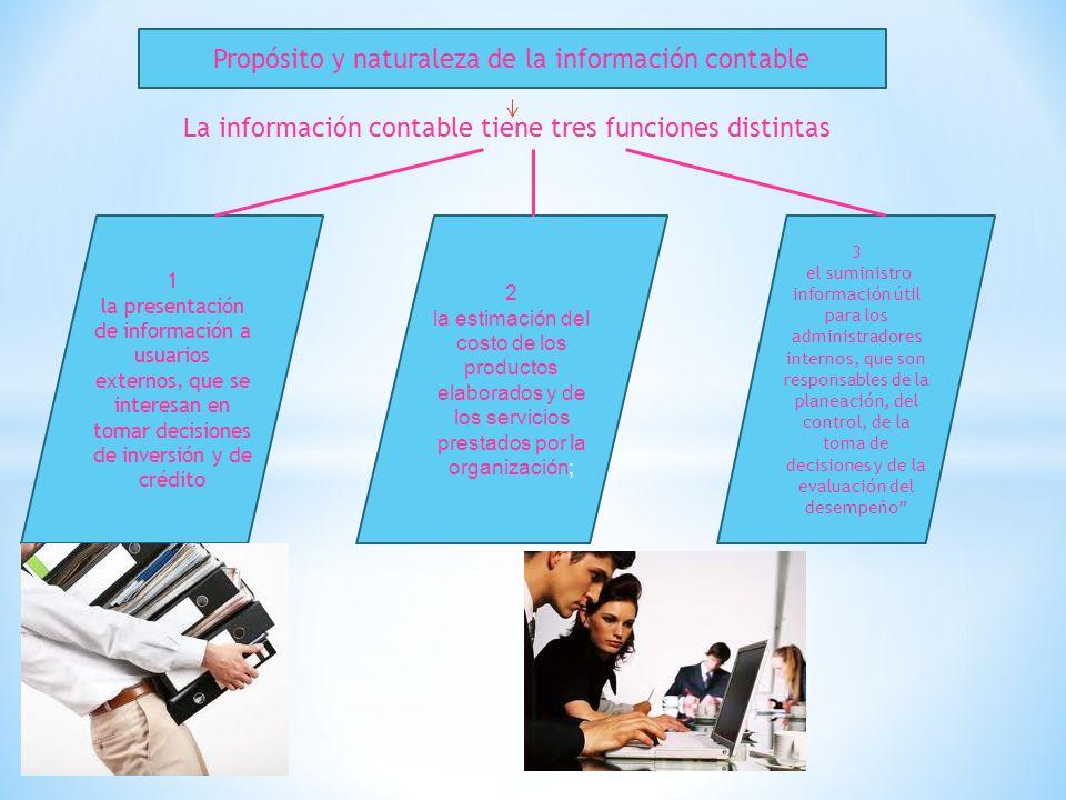 Propósito y naturaleza de la información contable