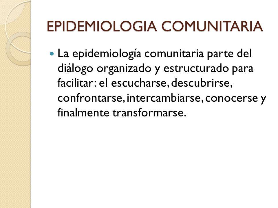 EPIDEMIOLOGIA COMUNITARIA
