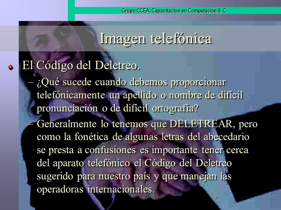 Imagen telefónica El Código del Deletreo.