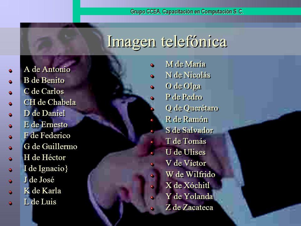 Imagen telefónica M de María A de Antonio N de Nicolás B de Benito
