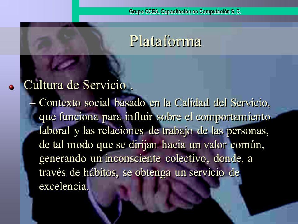 Plataforma Cultura de Servicio .