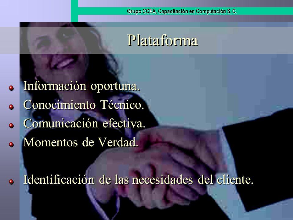 Plataforma Información oportuna. Conocimiento Técnico.