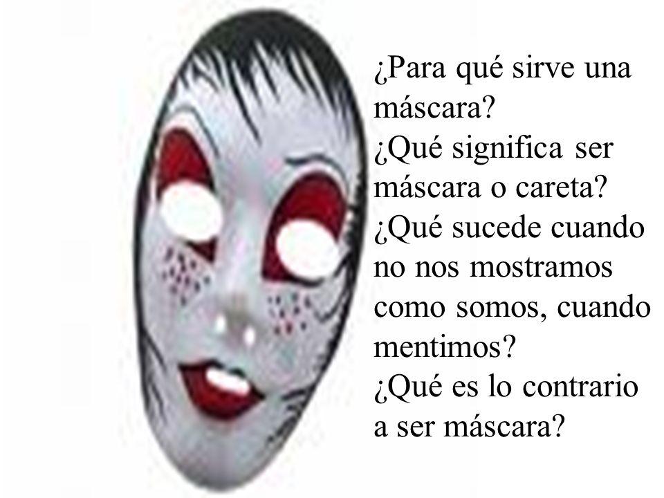 ¿Para qué sirve una máscara