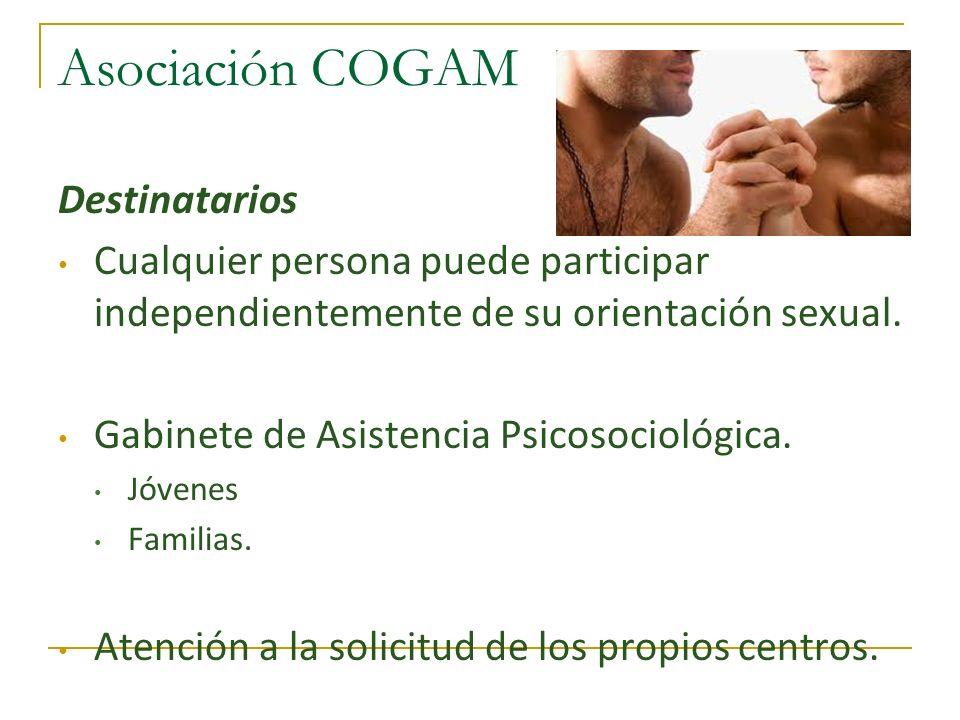 Asociación COGAM Destinatarios