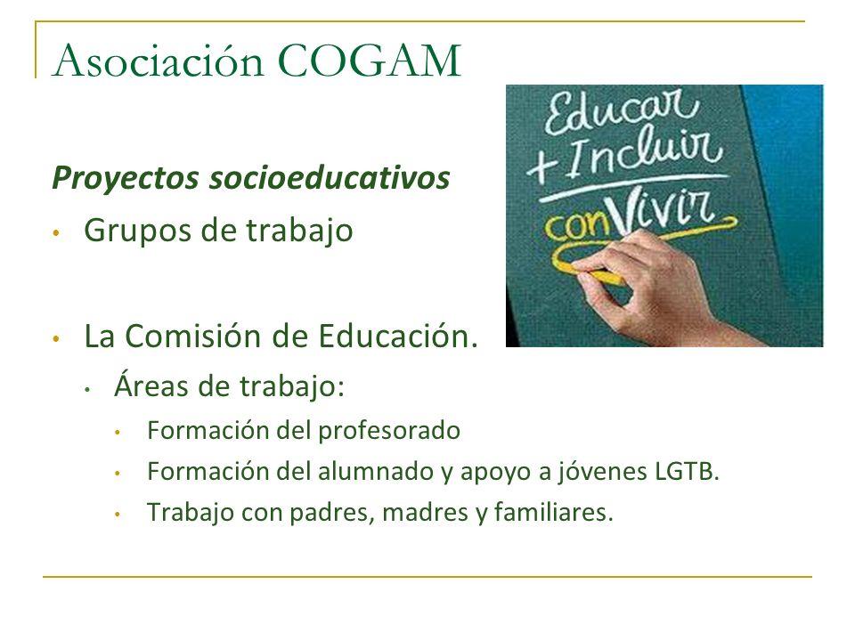 Asociación COGAM Proyectos socioeducativos Grupos de trabajo