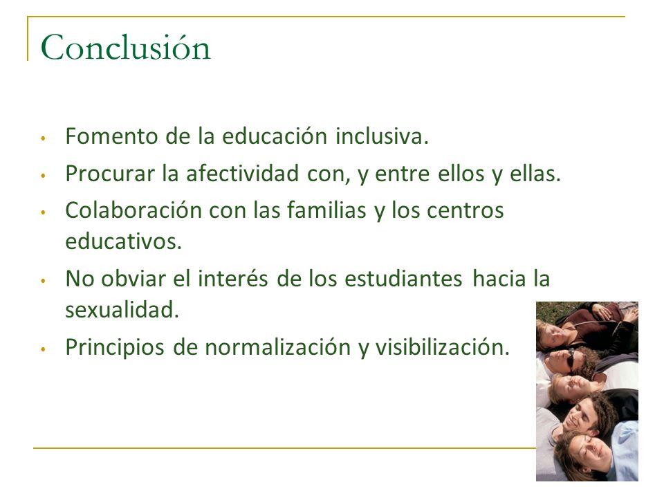 Conclusión Fomento de la educación inclusiva.