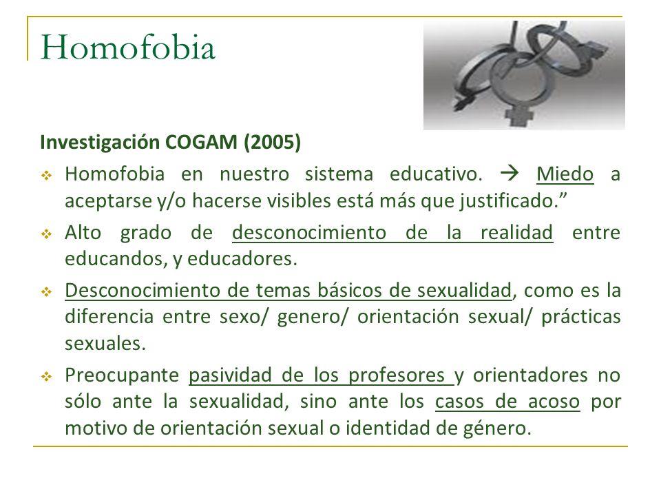 Homofobia Investigación COGAM (2005)