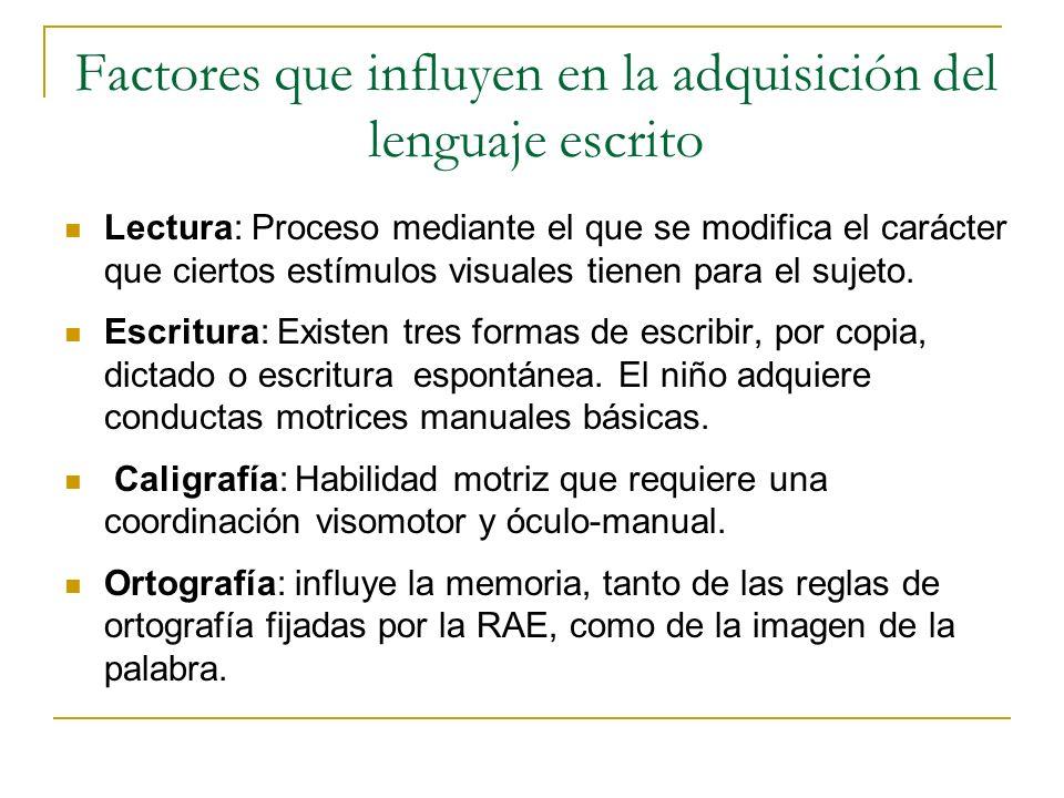 Factores que influyen en la adquisición del lenguaje escrito