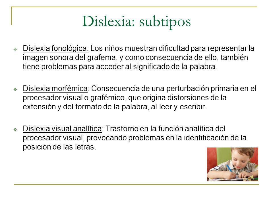 Dislexia: subtipos