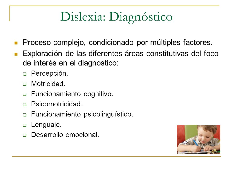 Dislexia: Diagnóstico
