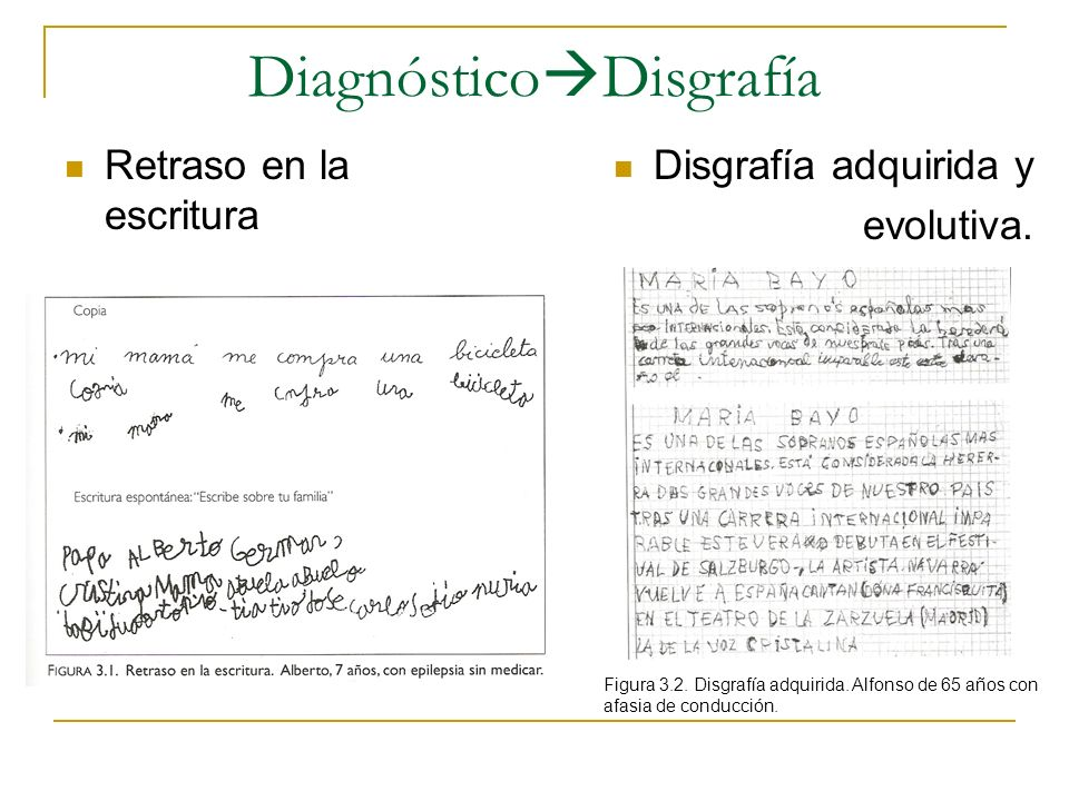 DiagnósticoDisgrafía
