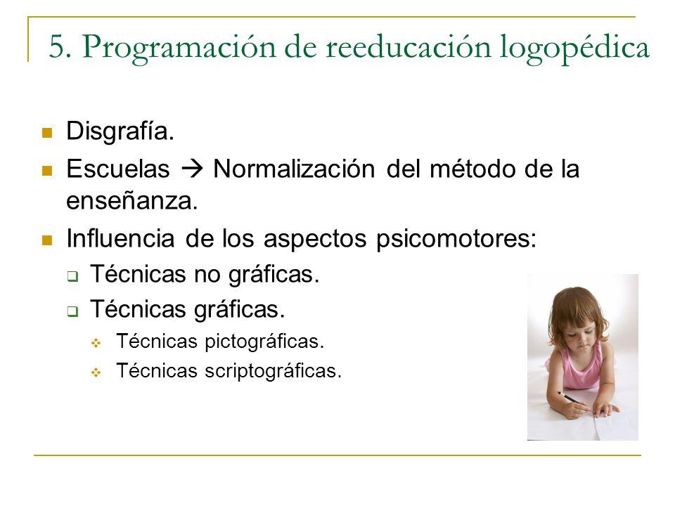 5. Programación de reeducación logopédica