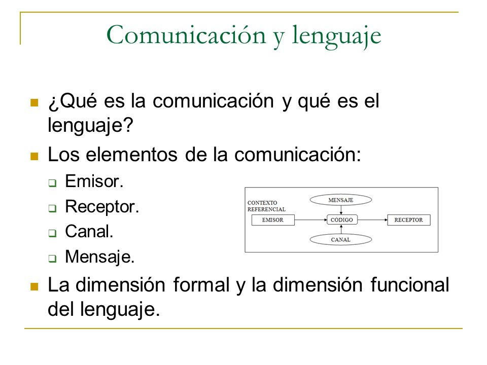 Comunicación y lenguaje