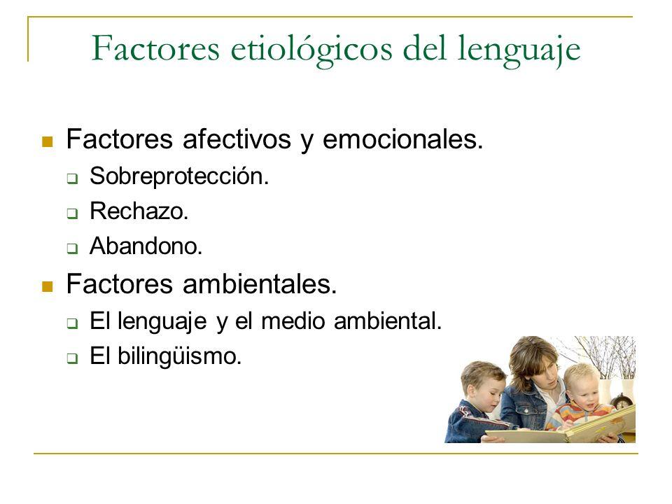 Factores etiológicos del lenguaje