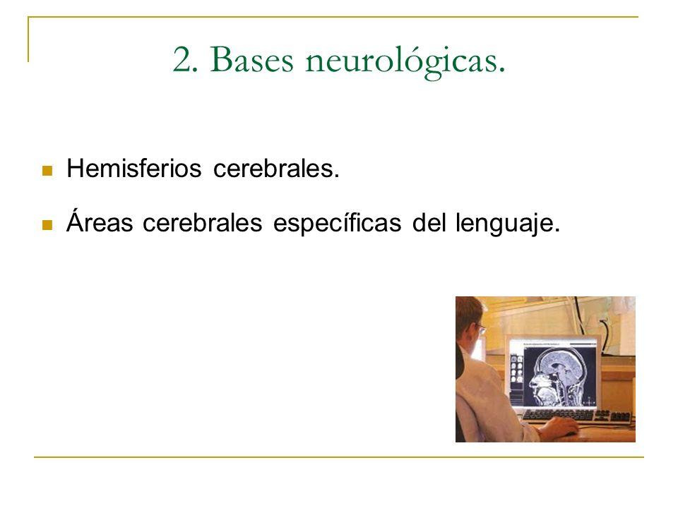 2. Bases neurológicas. Hemisferios cerebrales.