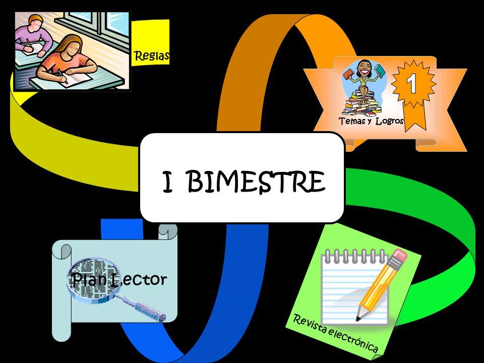 Reglas Temas y Logros 1 I BIMESTRE Revista electrónica Plan Lector