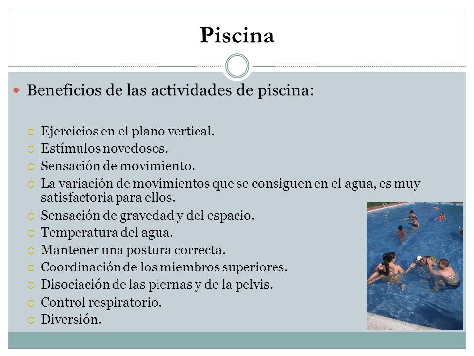 Piscina Beneficios de las actividades de piscina: