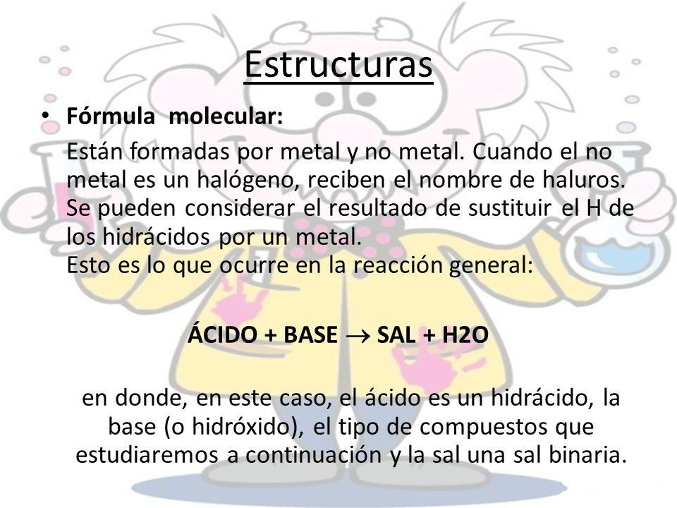 Estructuras Fórmula molecular: