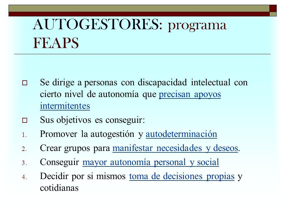 AUTOGESTORES: programa FEAPS