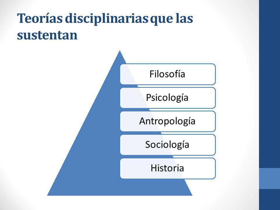 Teorías disciplinarias que las sustentan