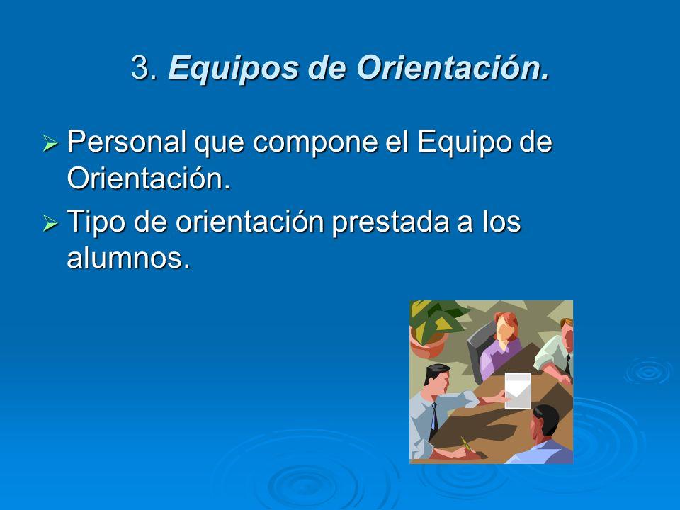 3. Equipos de Orientación.
