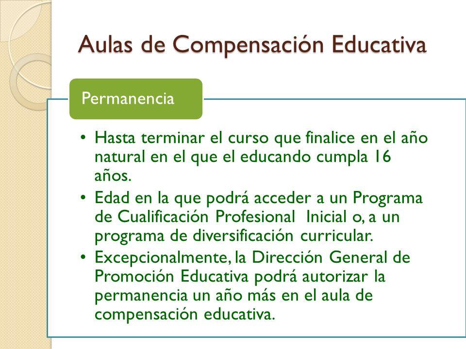 Aulas de Compensación Educativa