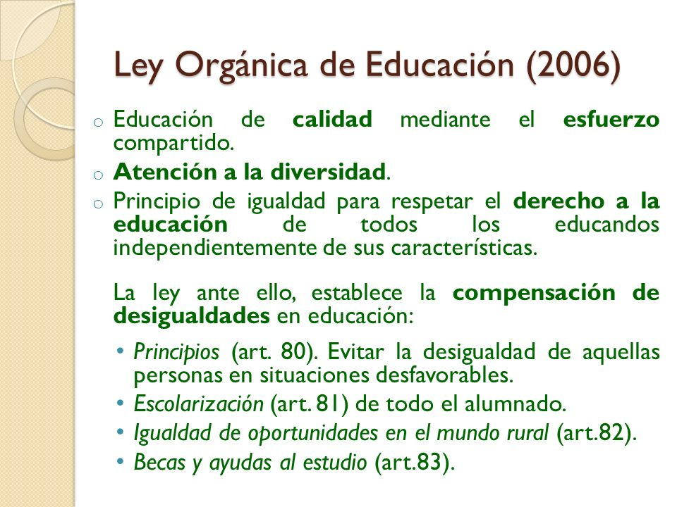 Ley Orgánica de Educación (2006)